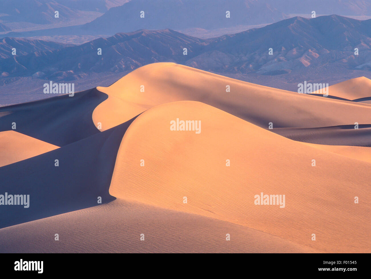 Mesquite Flat Sand Dunes, Death Valley National Park, California - Stock Image