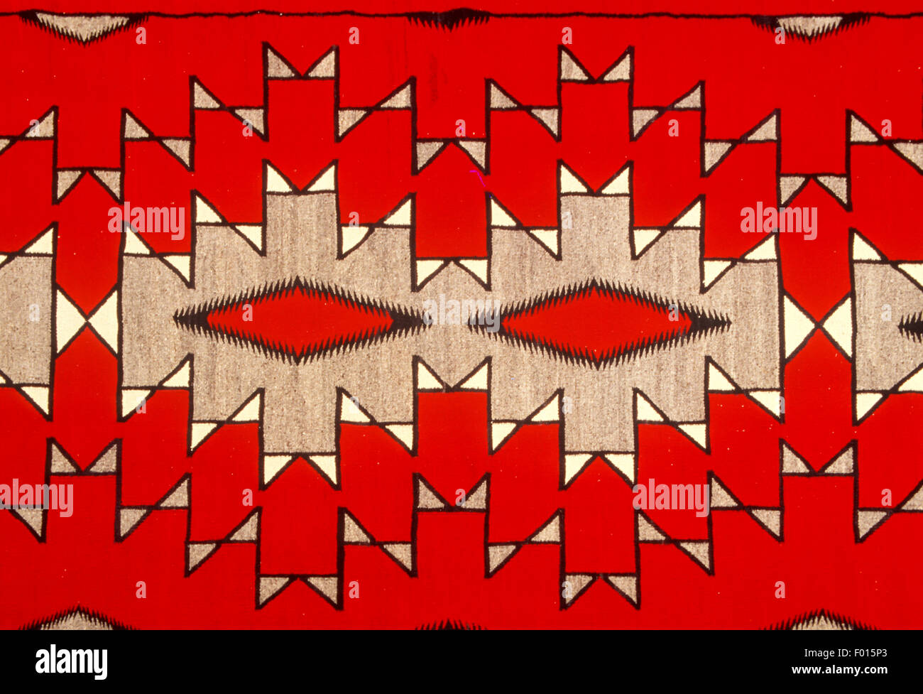 Navajo Indian rug, Museum of Northern Arizona, Flagstaff, Arizona - Stock Image