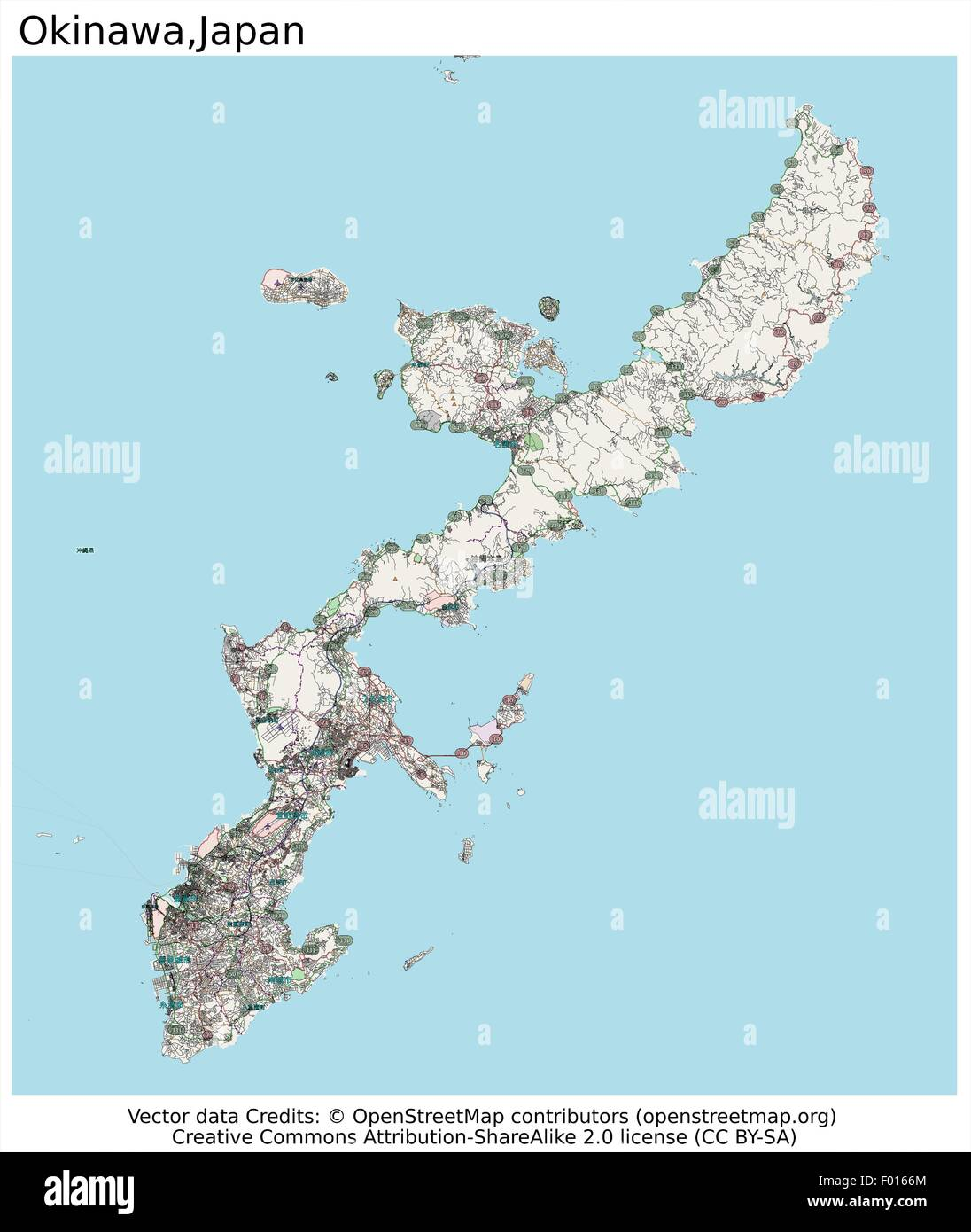 Okinawa island japan city map aerial view stock vector art okinawa island japan city map aerial view gumiabroncs Images