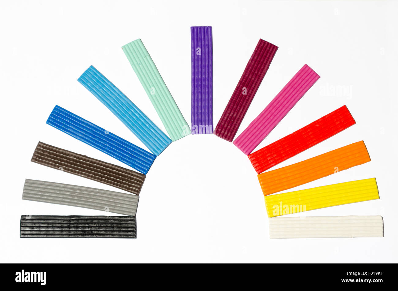 Multicolored Modelling Clay - Stock Image