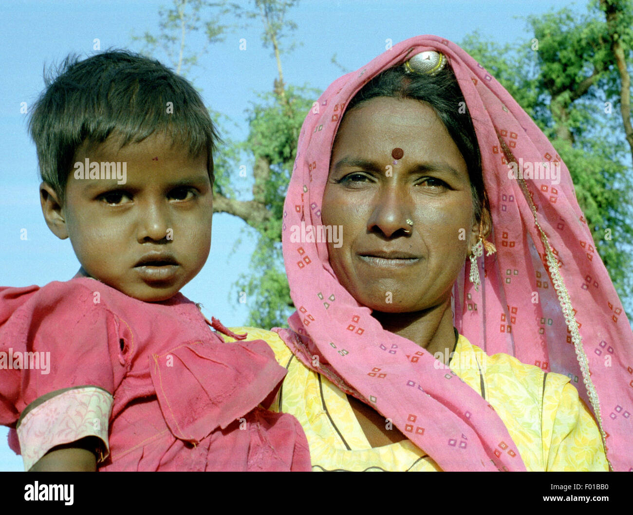 mother and child brian mcguire - Stock Image