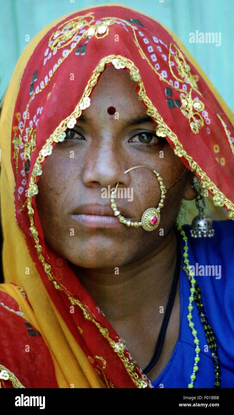 village woman india brian mcguire - Stock Image