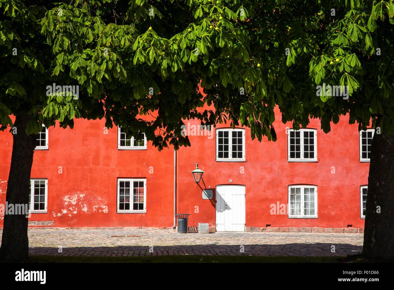 Barrack in the Kastellet fortress, Copenhagen, Denmark - Stock Image