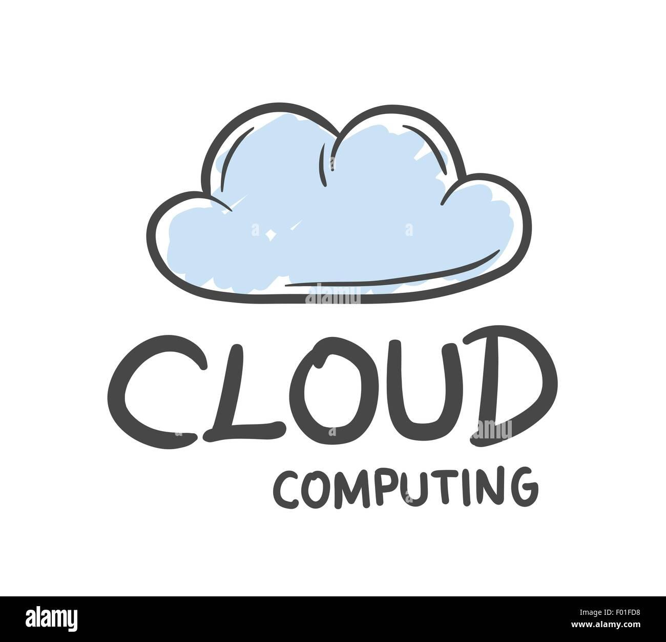 Digitally generated Cloud computing vector - Stock Image