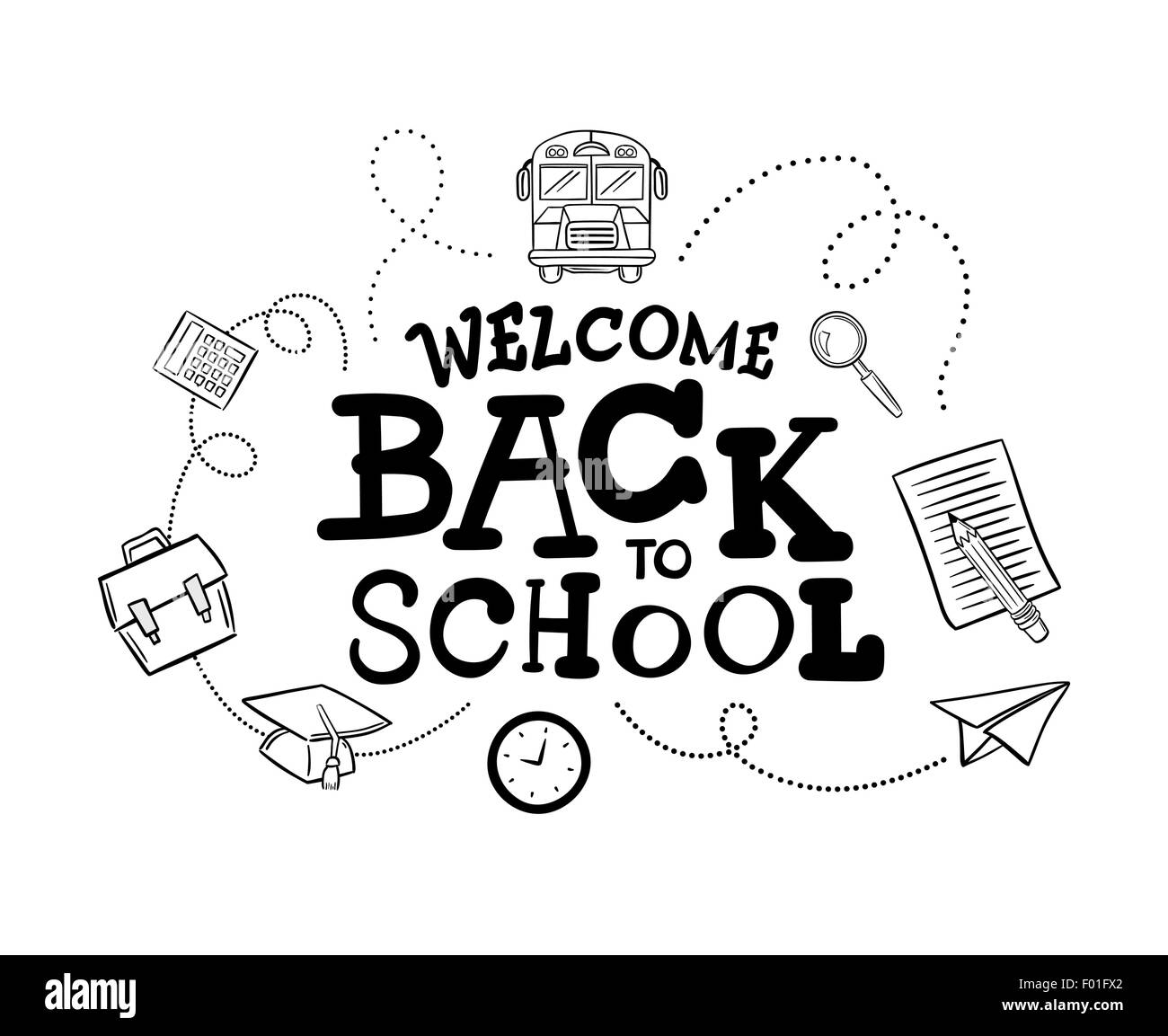 welcome back black and white stock photos & images - alamy