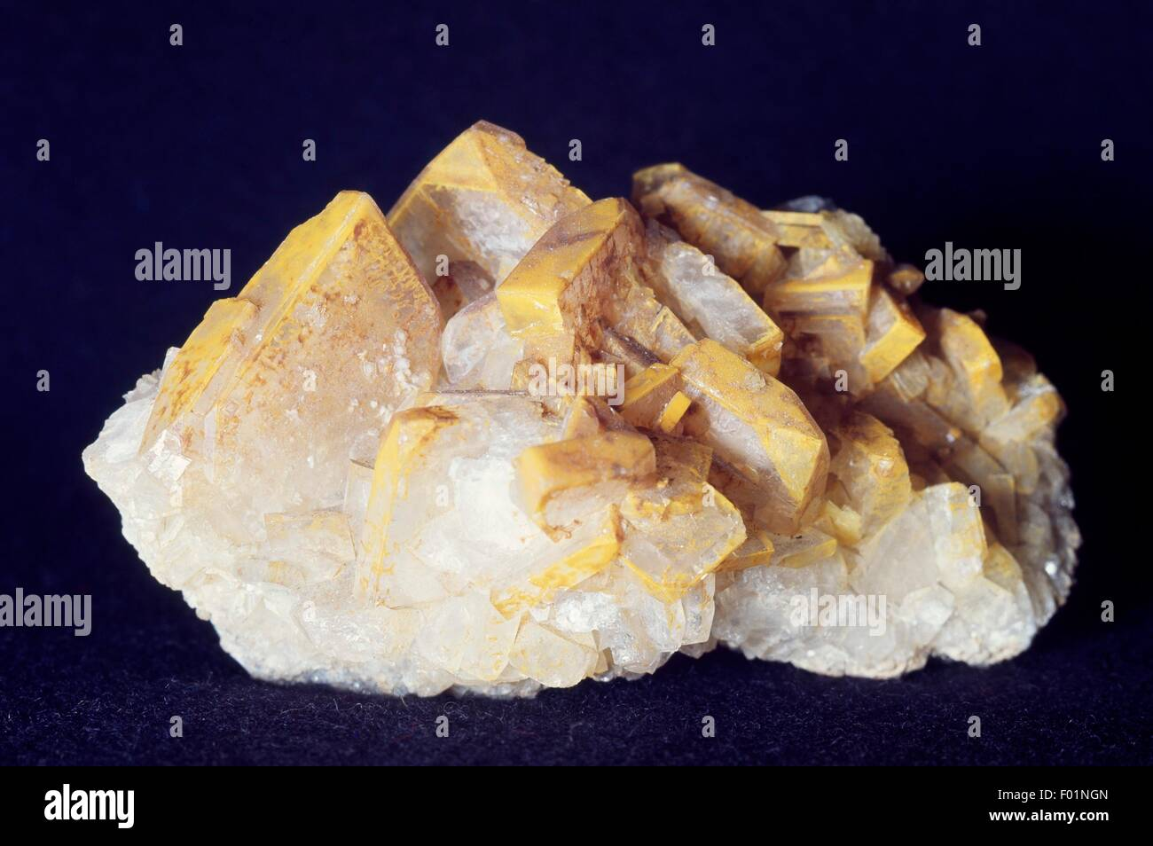 Druse of Baryte or Barite, sulphate. - Stock Image