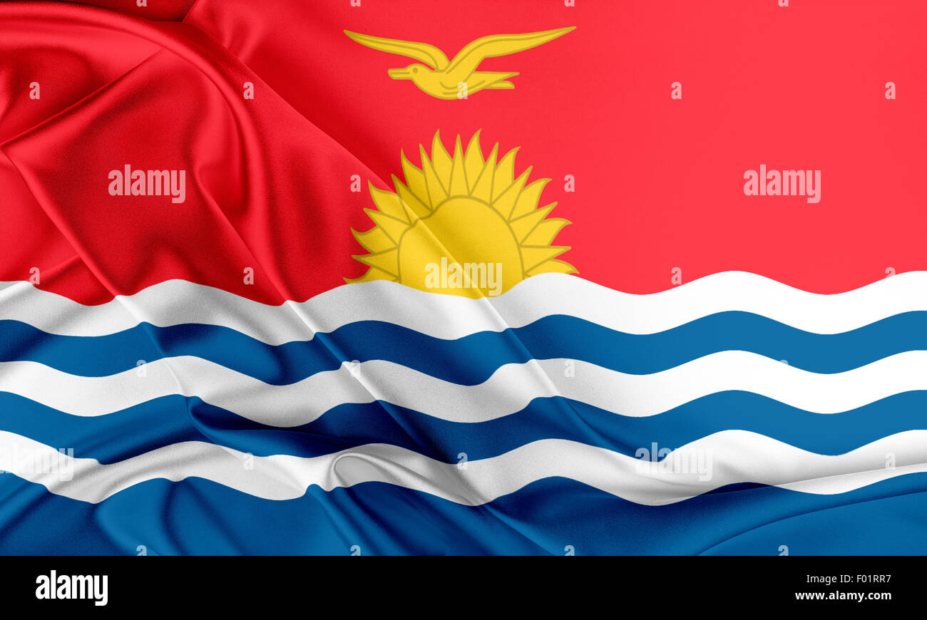 Kiribati Flag. Stock Photo