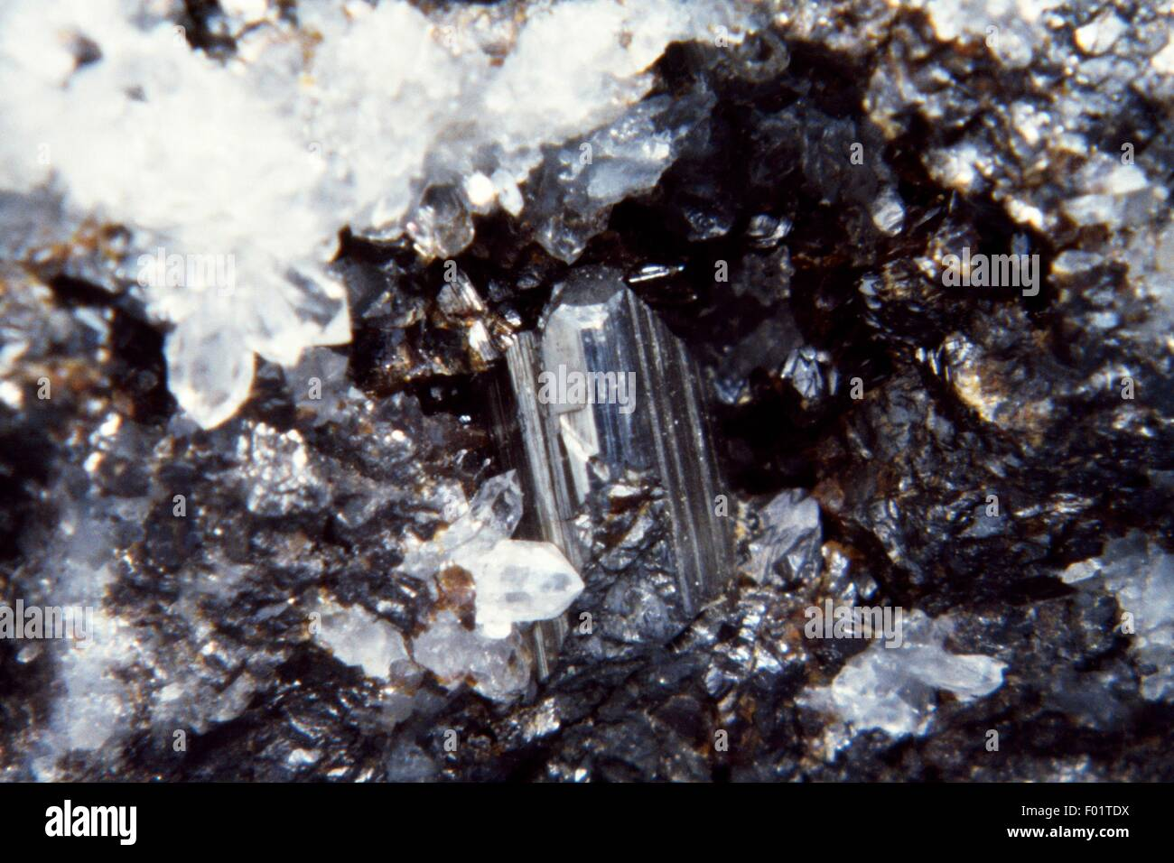 Diaphorite with Sphalerite, sulphides. - Stock Image