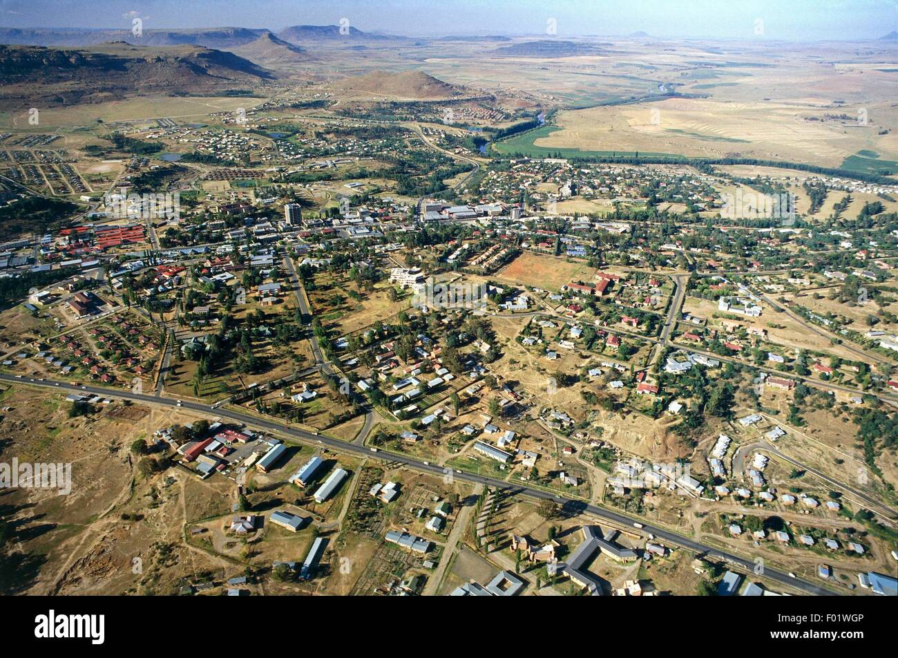 Aerial View Of Maseru Lesotho Stock Photo 86093862 Alamy