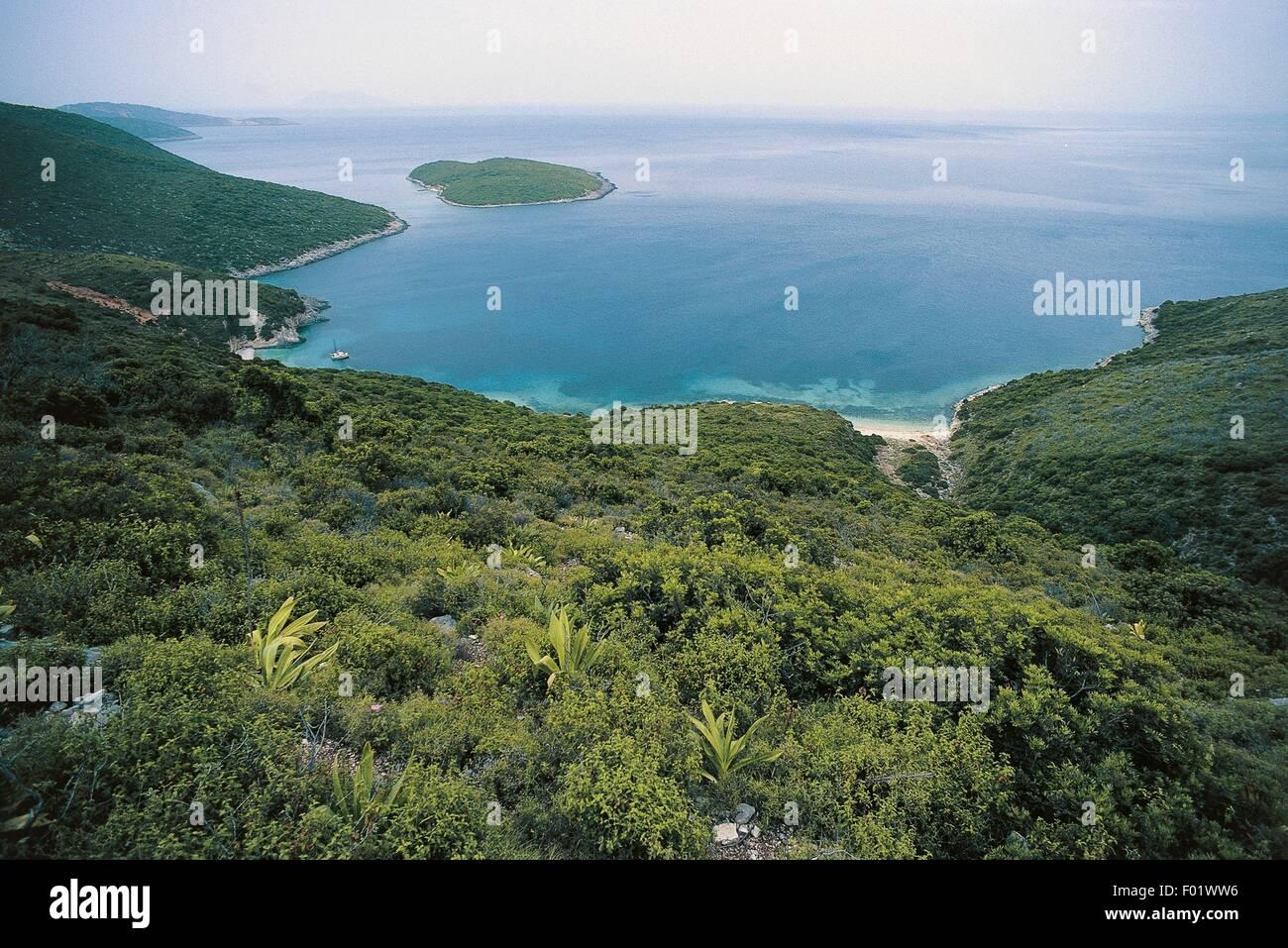 The coast of Ithaca, Ionian islands, Greece. - Stock Image