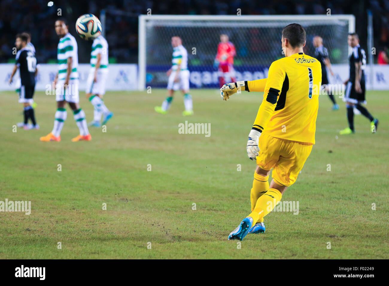 Baku, Azerbaijan. 05th Aug, 2015. Craig Gordon Goalkeeper of Celtic during the UEFA Champions League third qualifying - Stock Image