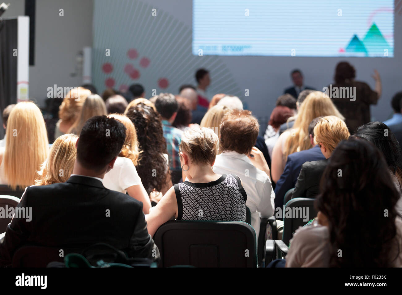 Audience at the business conference - Stock Image