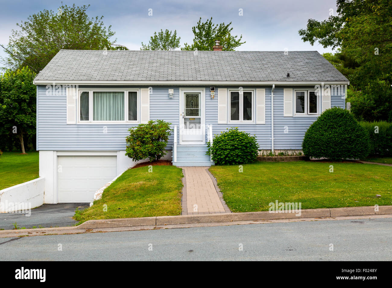 North American bungalow from the sixties or seventies. - Stock Image