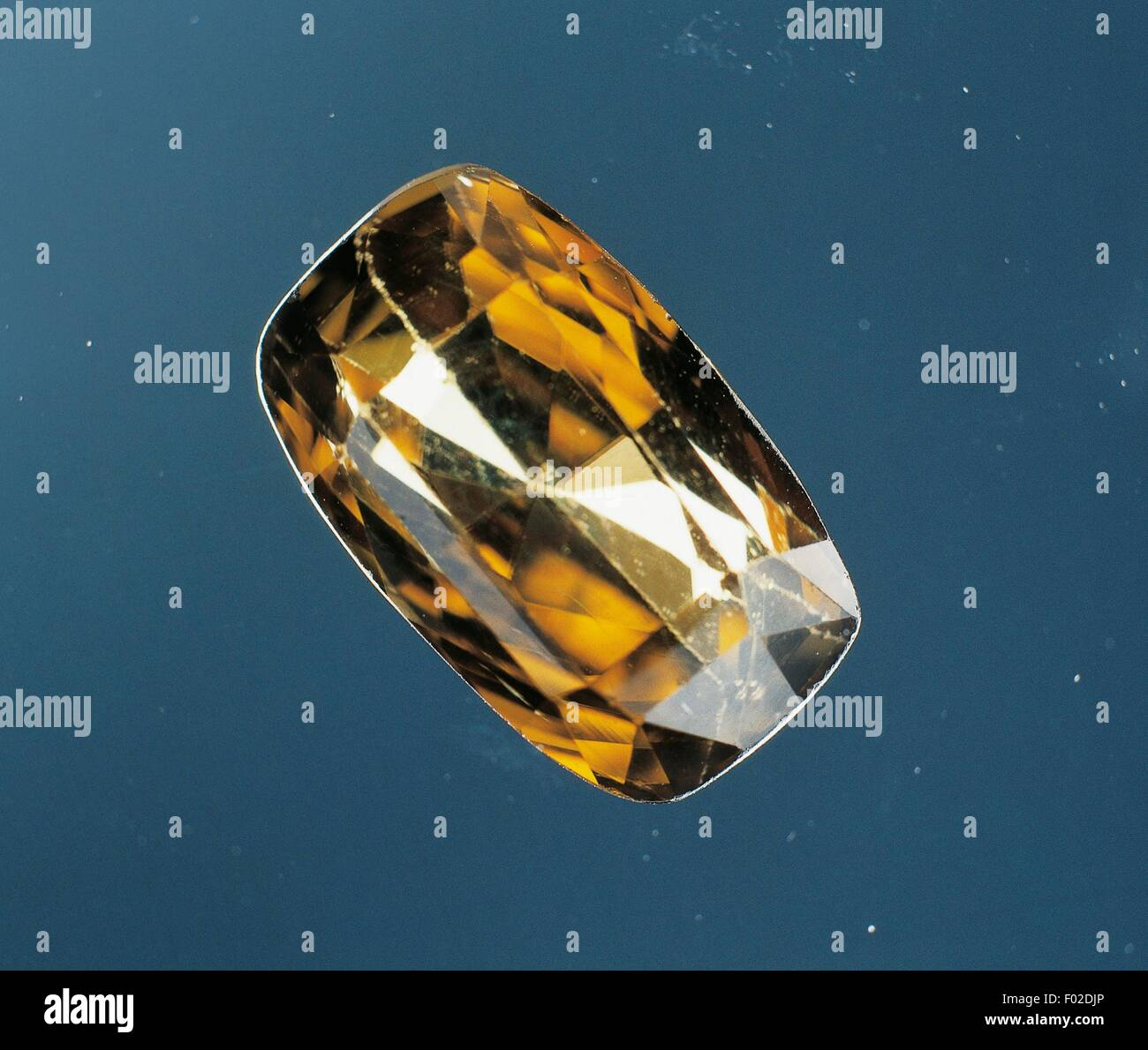 Geology Zircon Natural Condition Stock Photos Yellow Silicate Cut Gem Image
