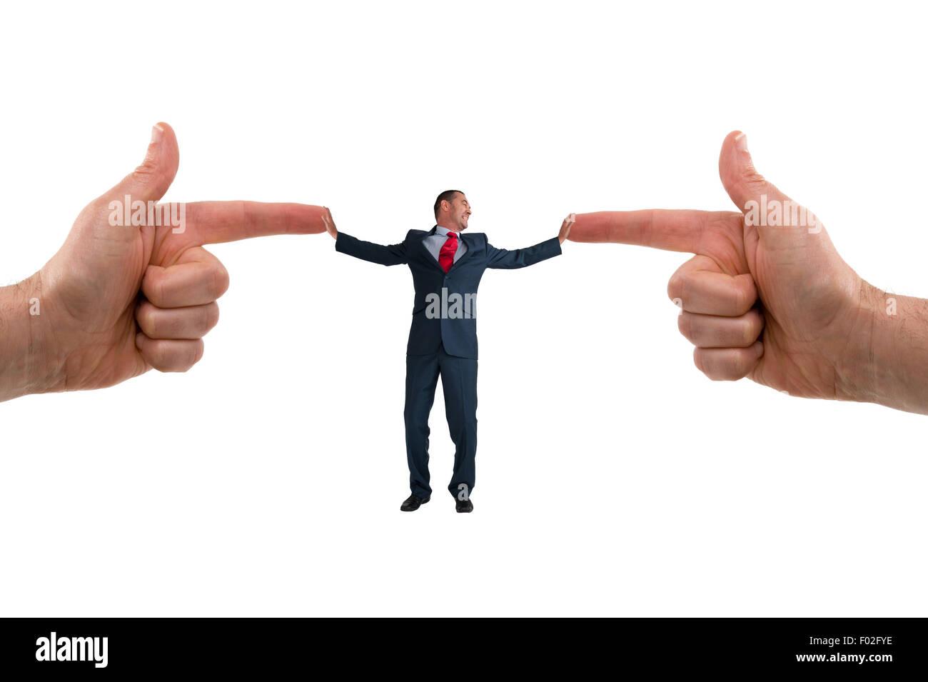 businessman accusation concept - Stock Image