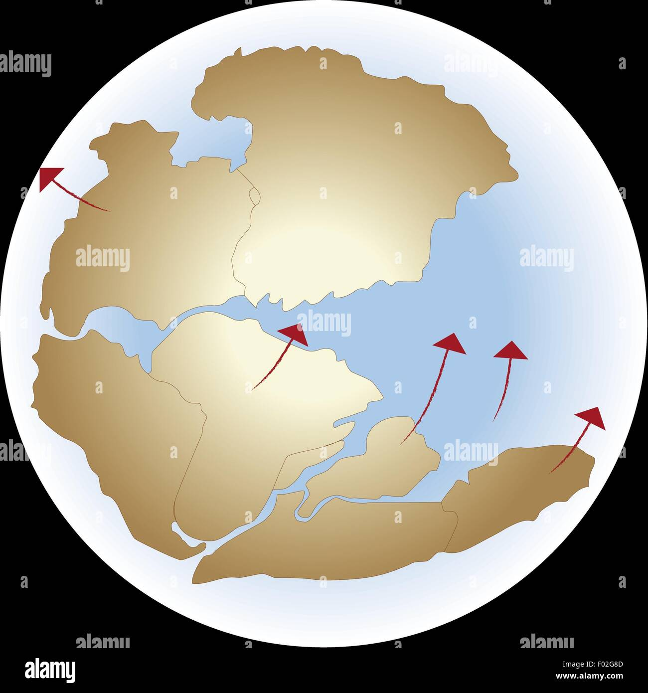 pangea supercontinent Pangaea or pangea is the name given to the supercontinent that existed during the paleozoic and mesozoic eras, before the process of plate tectonics separated each of the component continents into.
