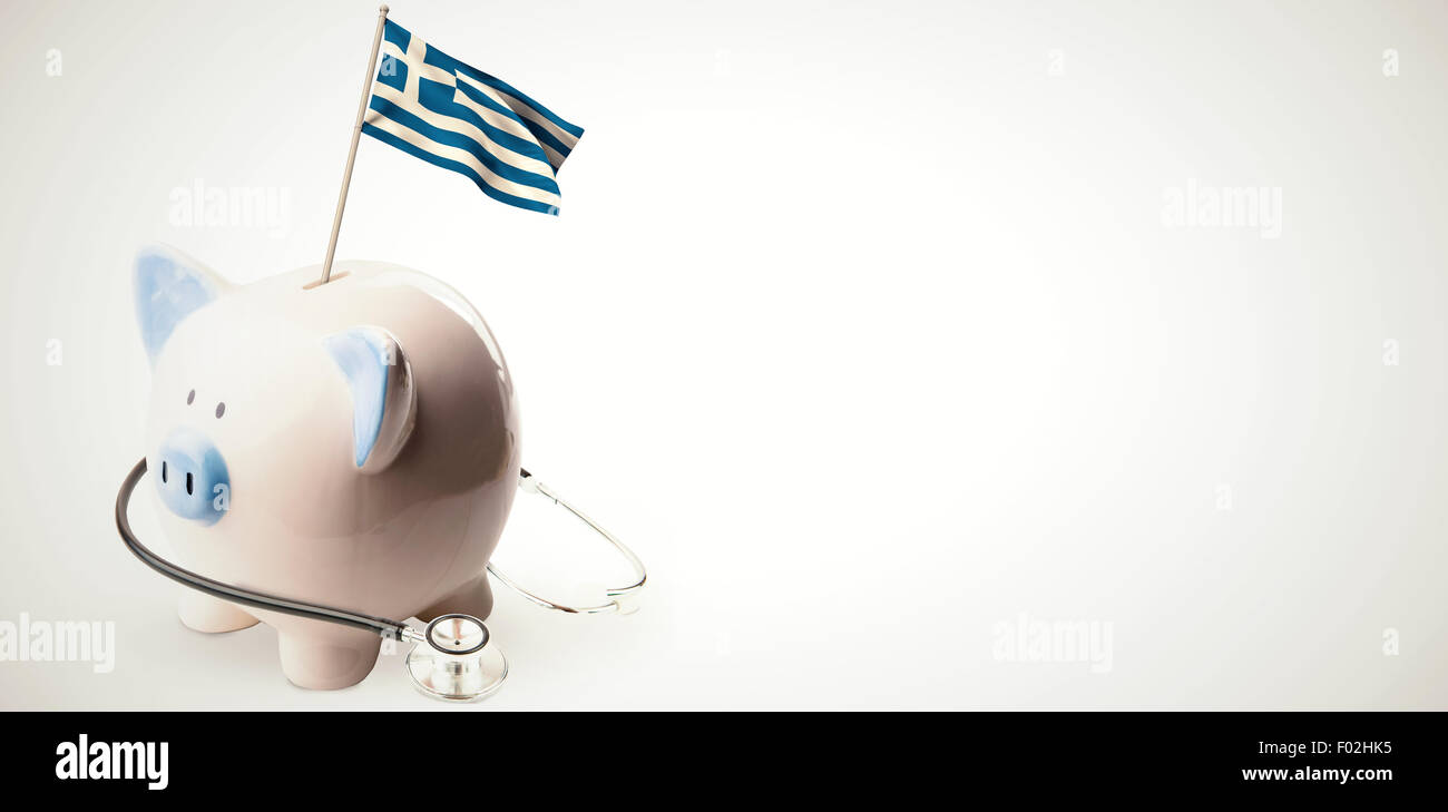 Composite image of digitally generated greek national flag - Stock Image