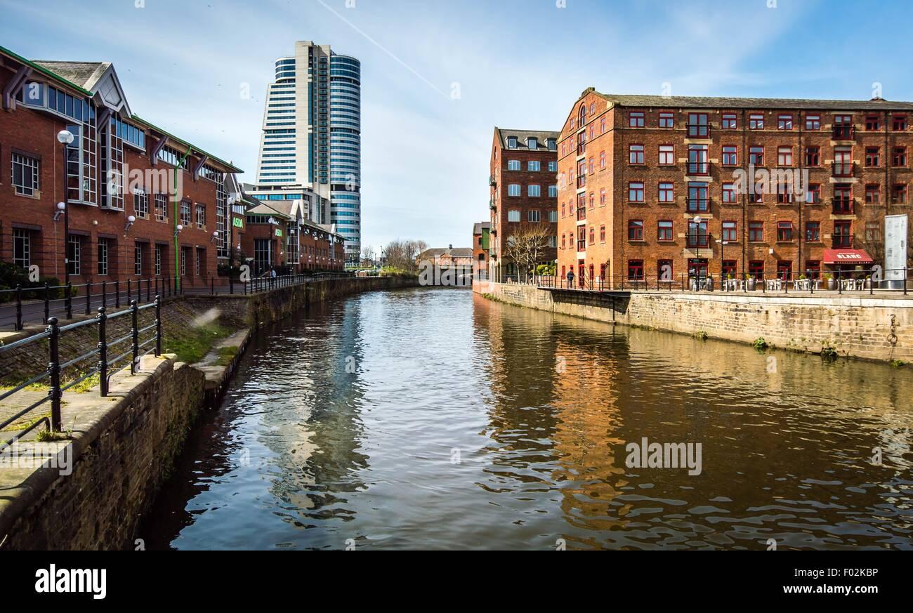 View of Bridgewater, Leeds, England, UK - Stock Image