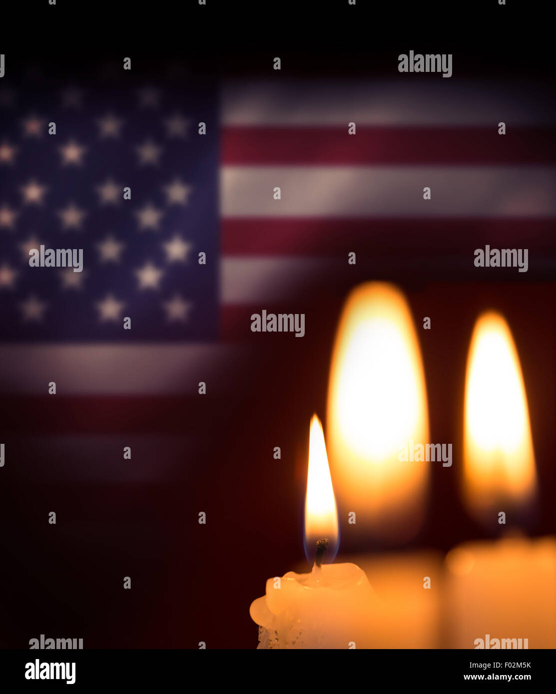 Composite image of candles soft light - Stock Image
