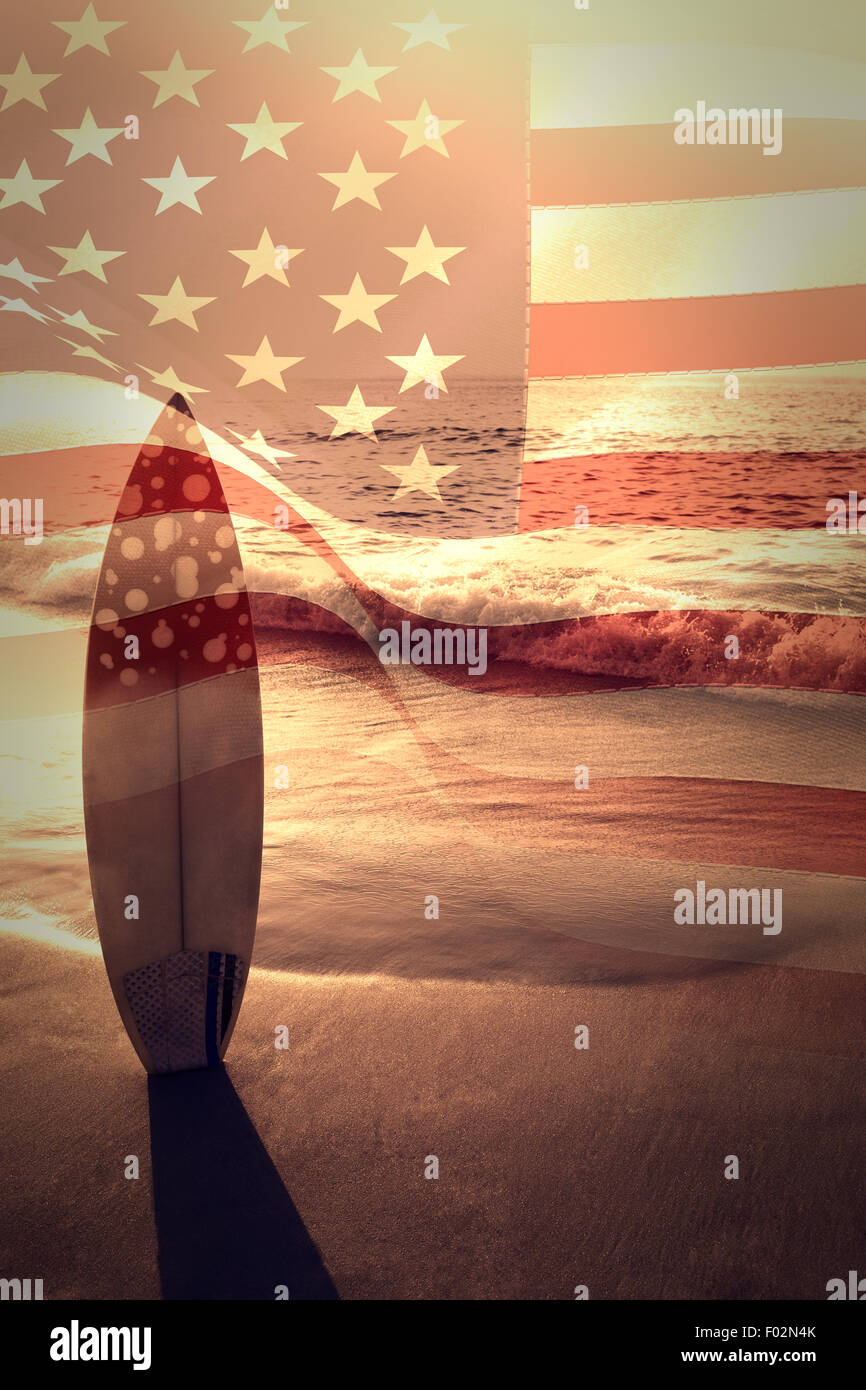 Composite image of digitally generated united states national flag - Stock Image