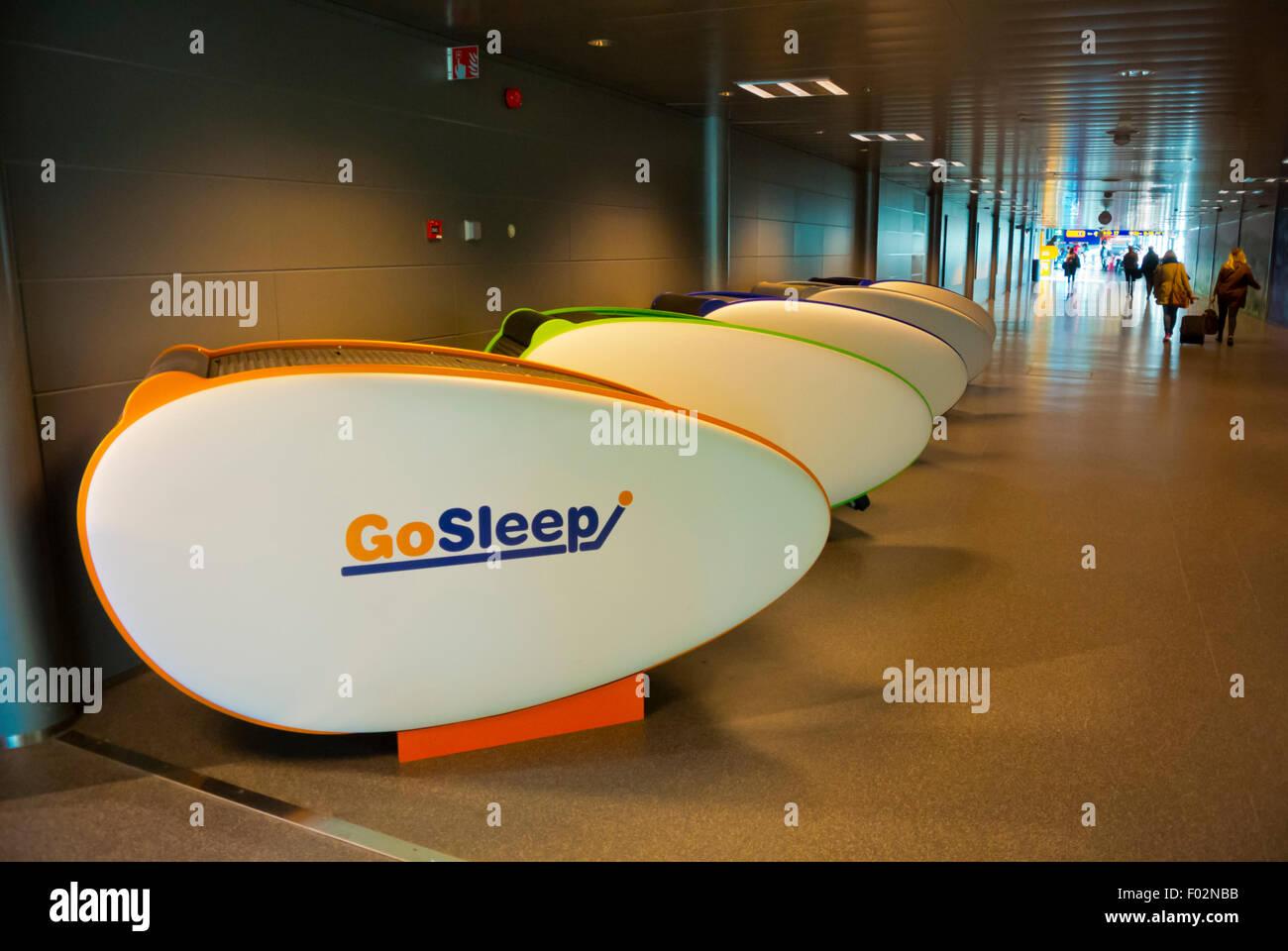 Pods for sleeping, Helsinki-Vantaan lentoasema, airport, Seutula, Vantaa, near Helsinki, Finland - Stock Image
