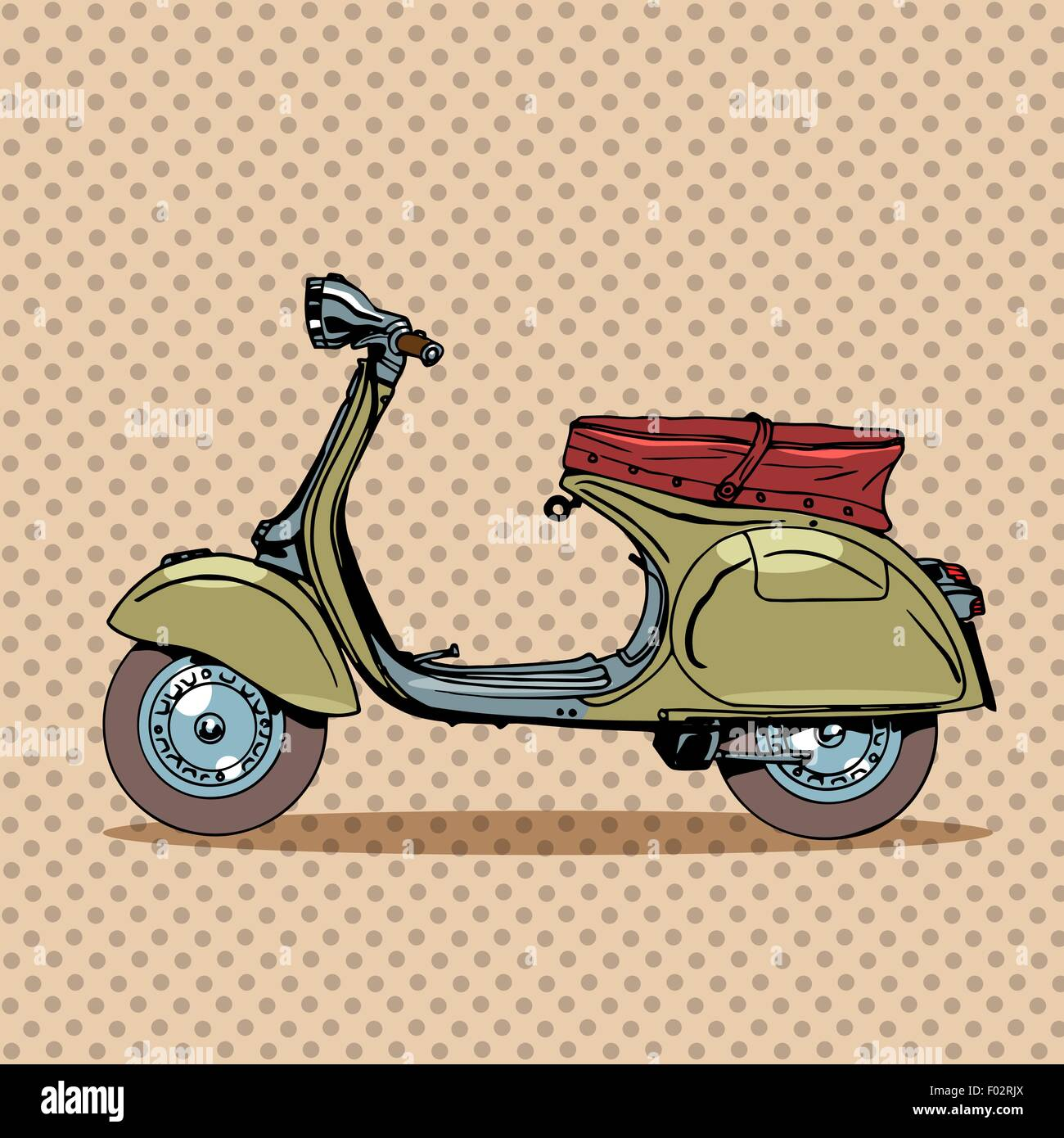 Vintage scooter retro transport - Stock Image