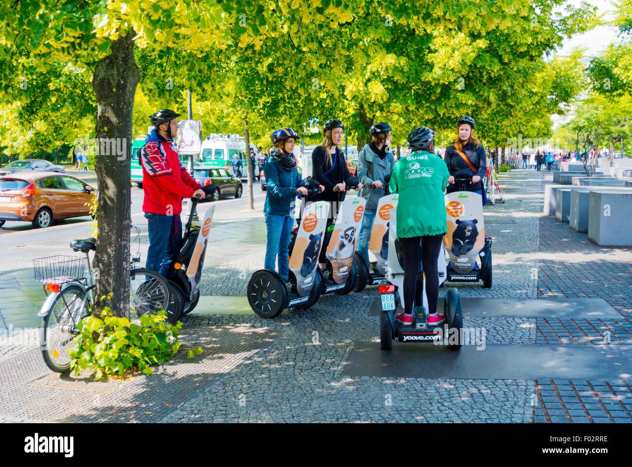 Segway guided tour, Tiergarten, Berlin, Germany - Stock Image