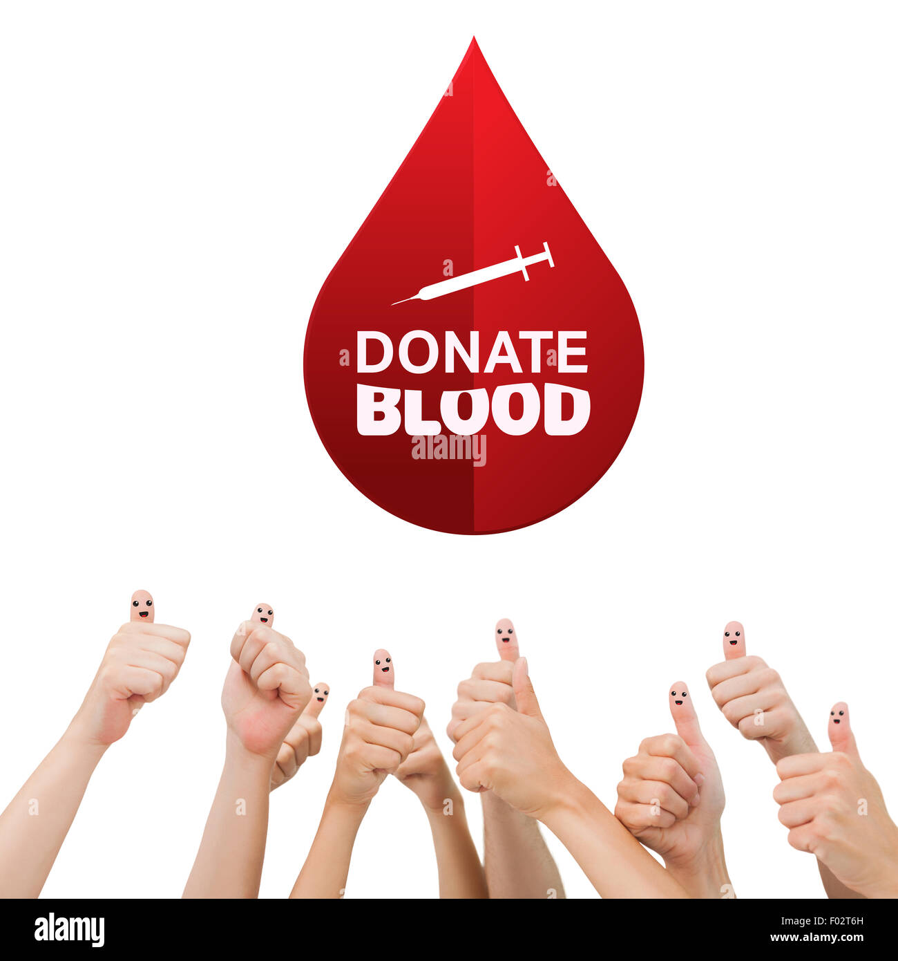 Composite image of donate blood - Stock Image