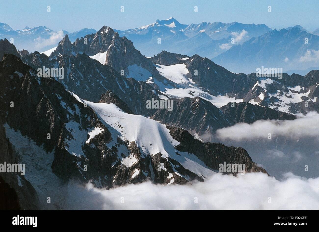 Aiguille Du Midi Mountain Highest Point 3842 M Of The