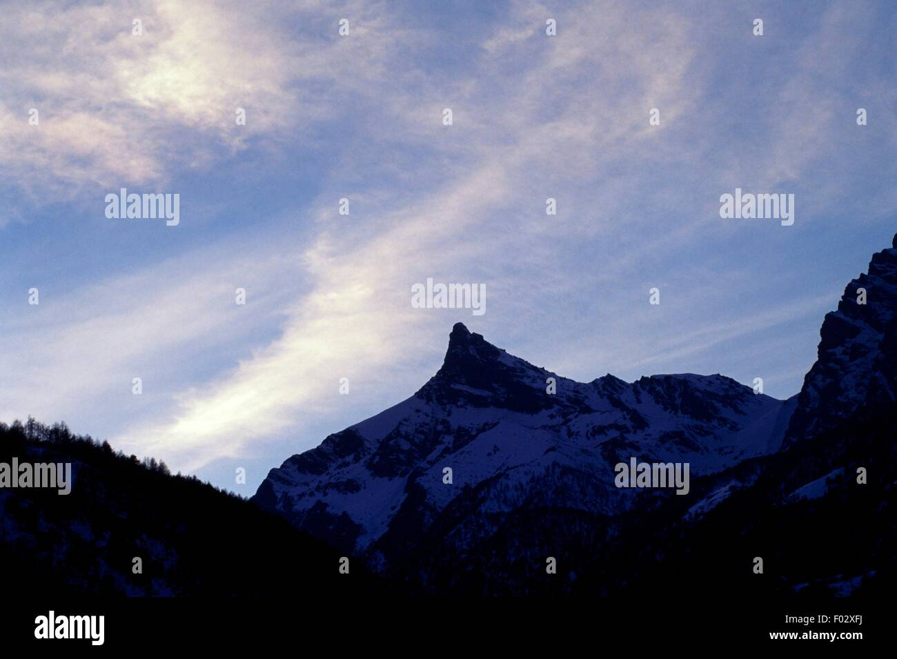 Mont Avic (3006 metres), Mont Avic Natural Park, Valle d'Aosta, Italy. - Stock Image