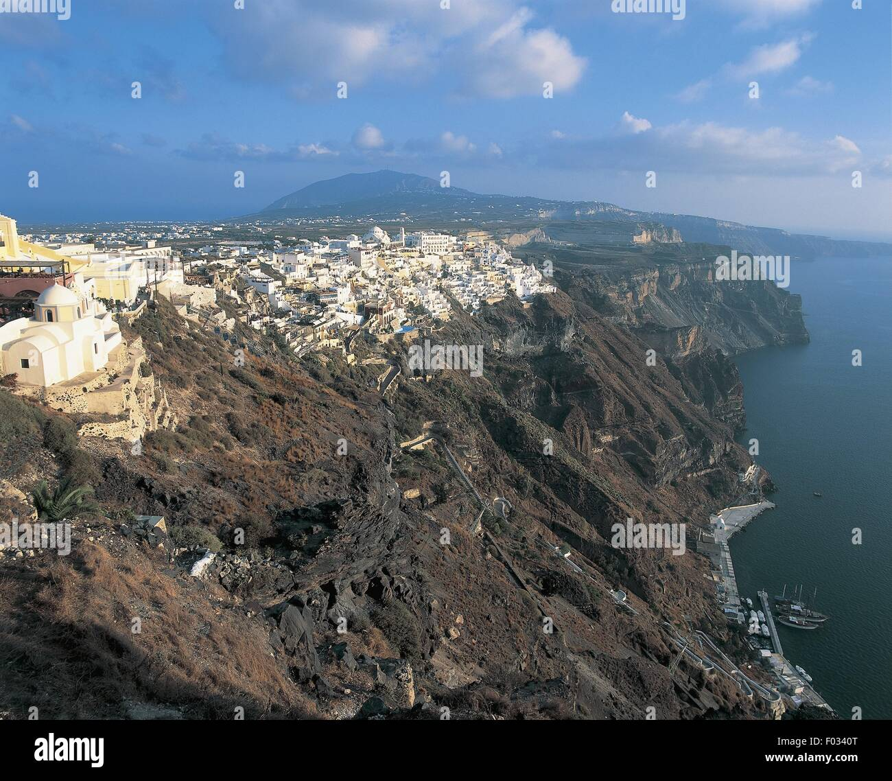 Greece - Southern Aegean - Cyclades Islands - Santorini. Fira. - Stock Image