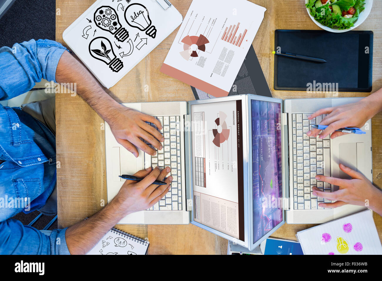 Composite image of idea and innovation graphic - Stock Image
