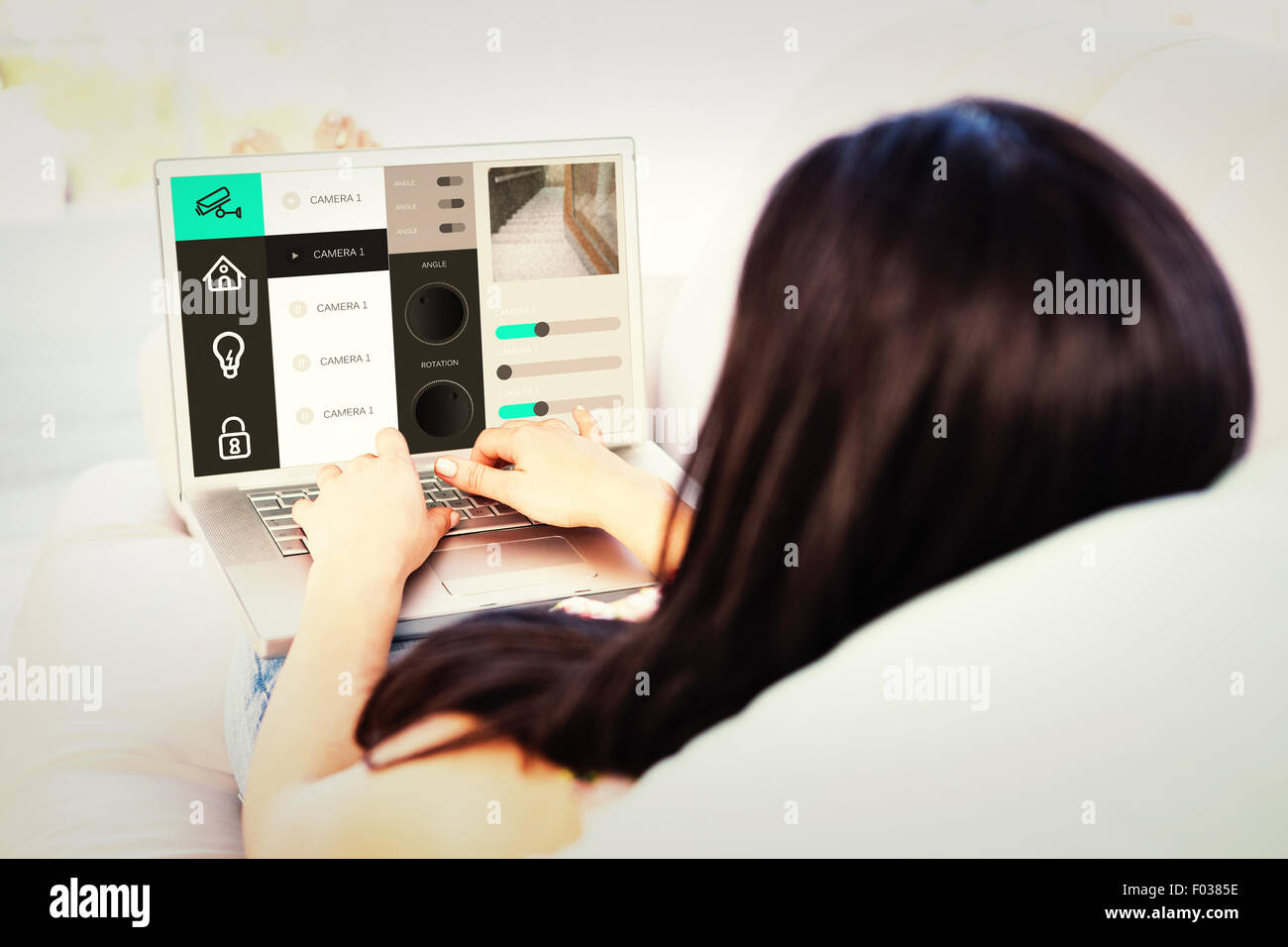 Composite image of home automation system - Stock Image