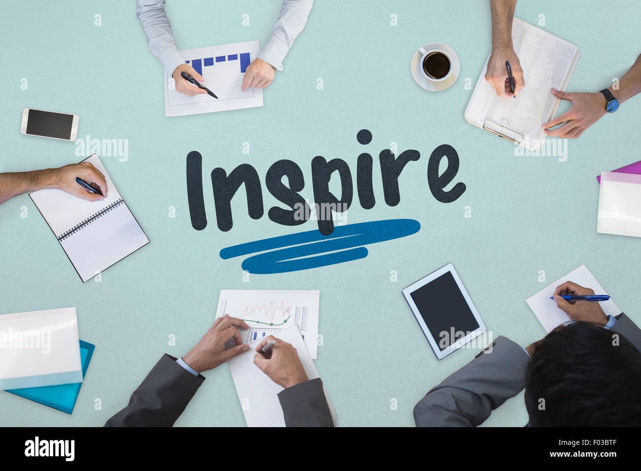 Inspire against business meeting - Stock Image