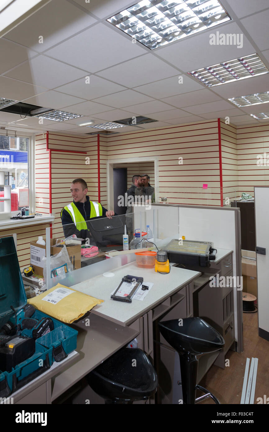Main style Post Office branch refit and modernization new counter ...