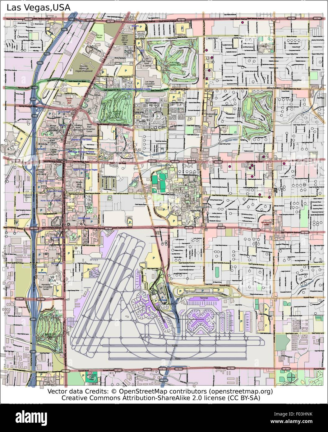 City Map Of Las Vegas on