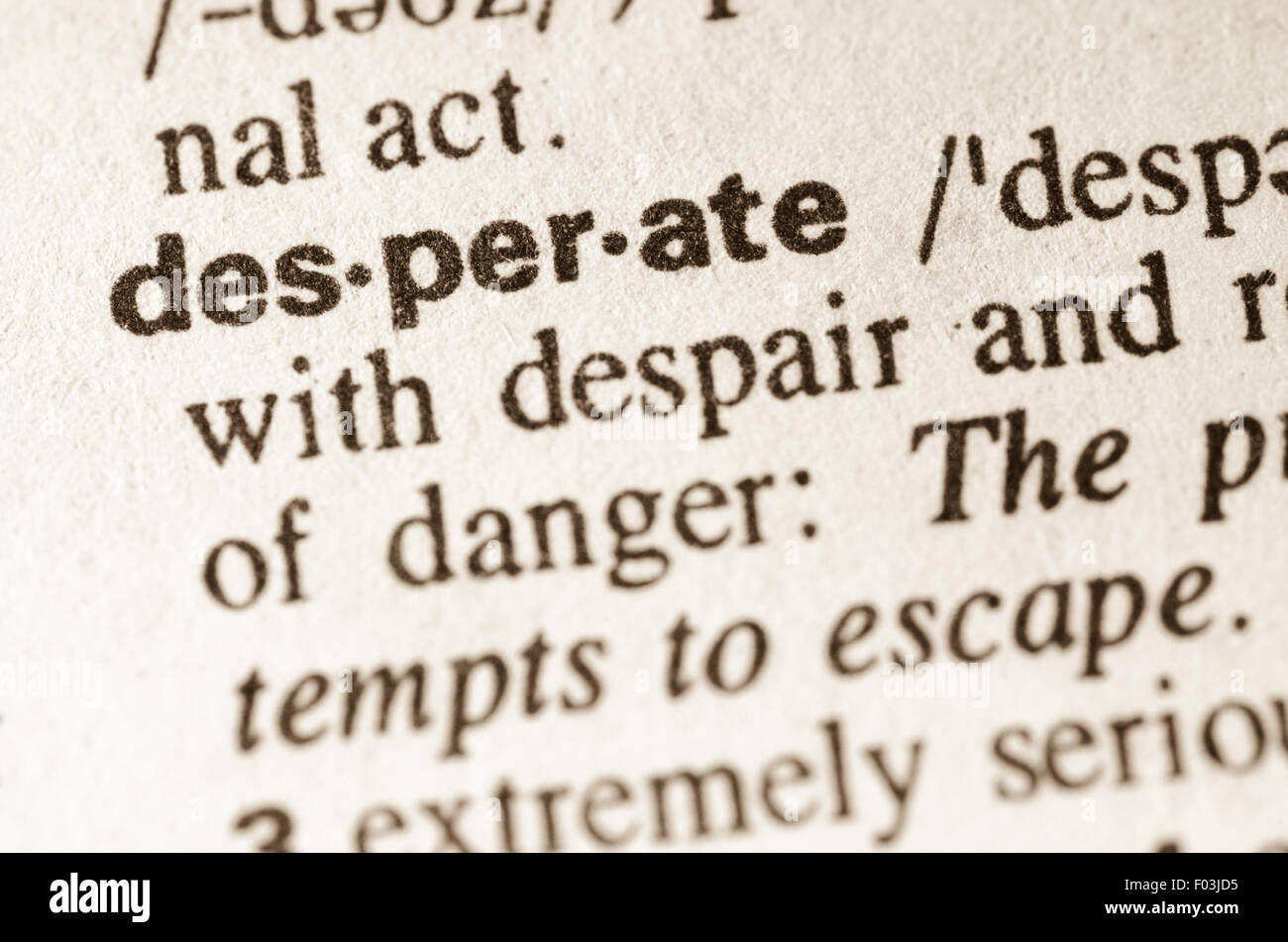 High Quality Definition Of Word Desperate In Dictionary
