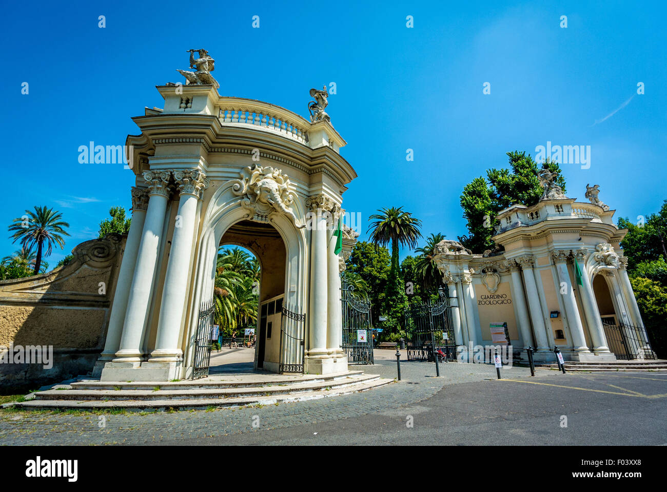 Entrance to the Bioparco zoo, Borghese Gardens, Rome