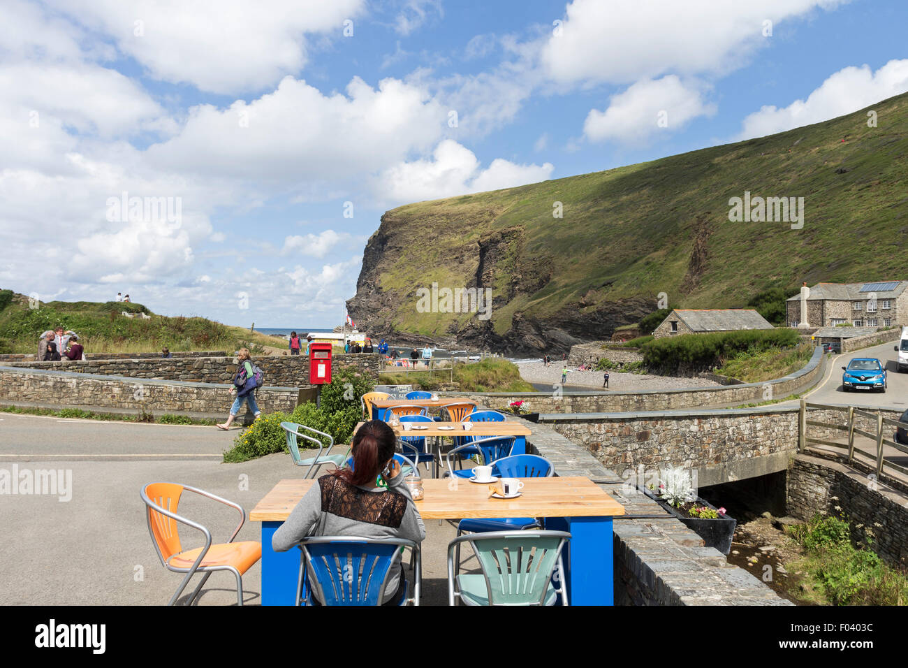 The Coastal Village of Crackington Haven in Summer, Cornwall UK - Stock Image
