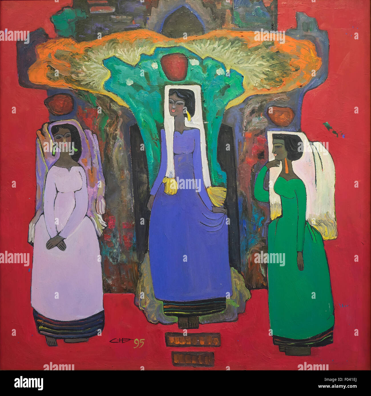 Women An Abstract Painting By A Vietnamese Artist Museum Of
