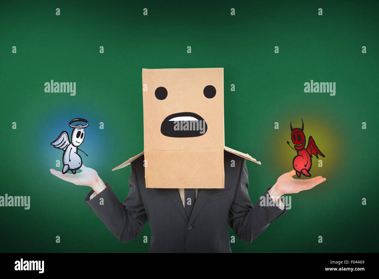 Composite image of shrugging businessman - Stock Image