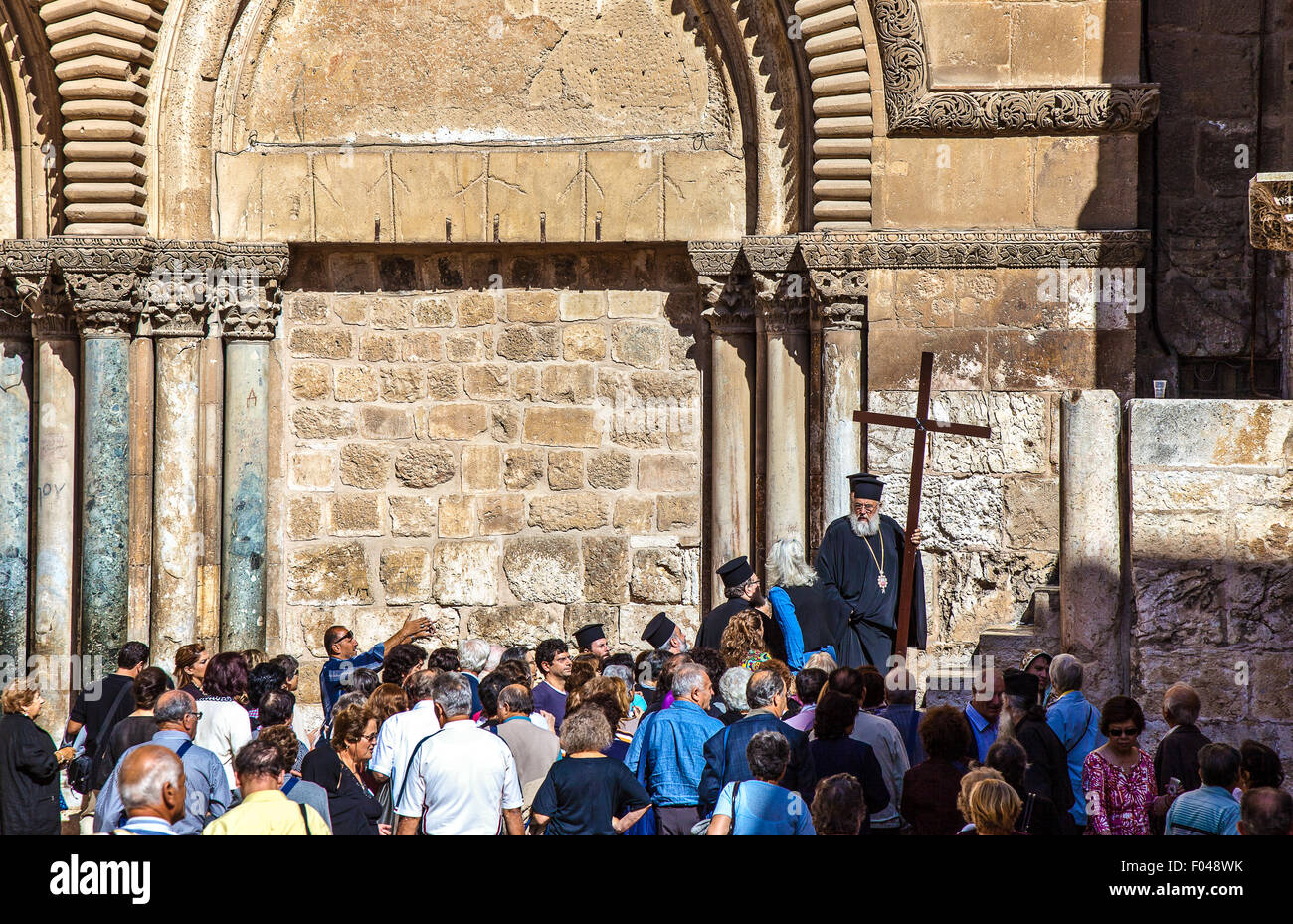 Israel, Jerusalem, the Church of the Holy Sepulchre - Stock Image