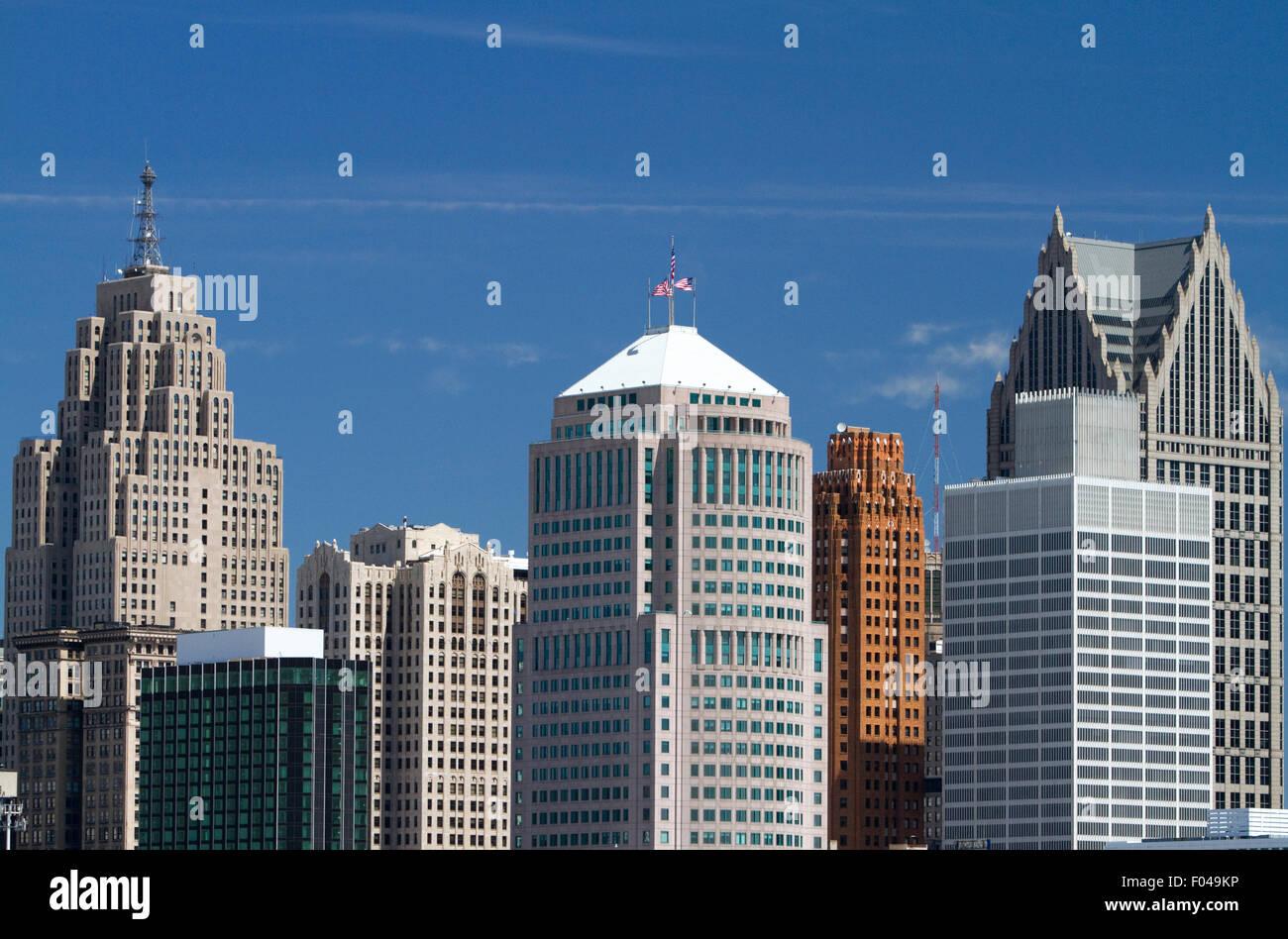Detroit International Riverfront, Michigan, USA. - Stock Image