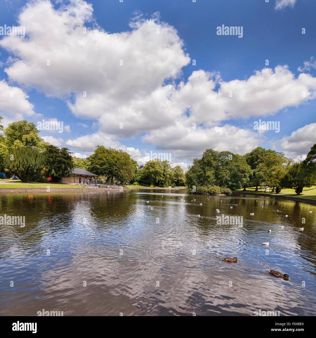Buxton Pavilion Gardens, Buxton, Derbyshire, England - Stock Image