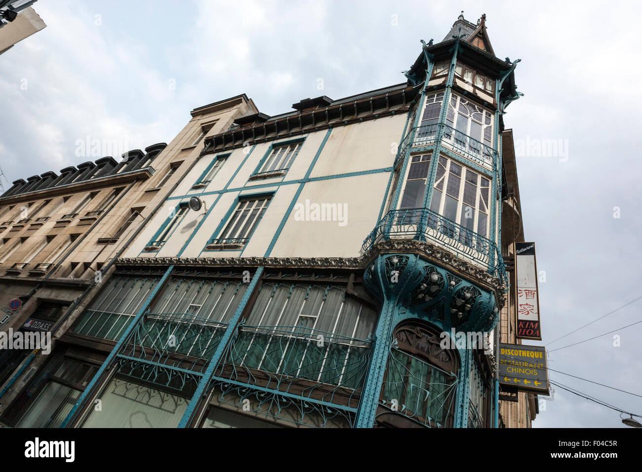 Modernism, Art Nouveau, building in Nancy - Stock Image