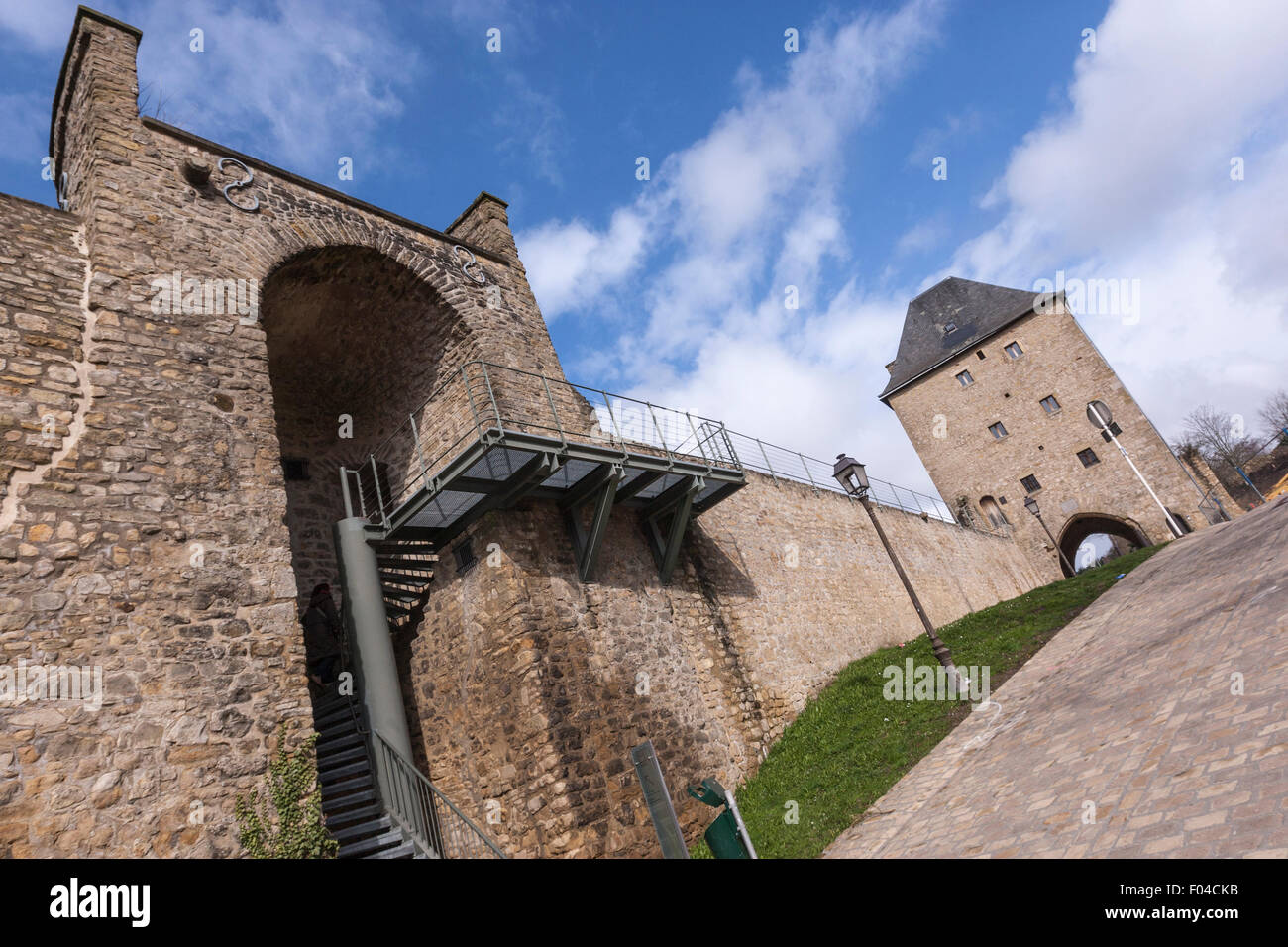 Part of Luxembourg City's fortifications. Jacob's Tower - Stock Image