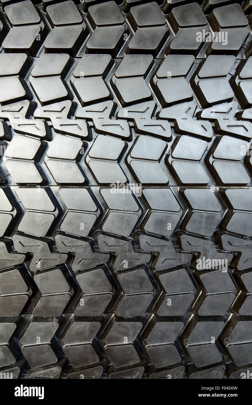 Textured tire tread Stock Photo