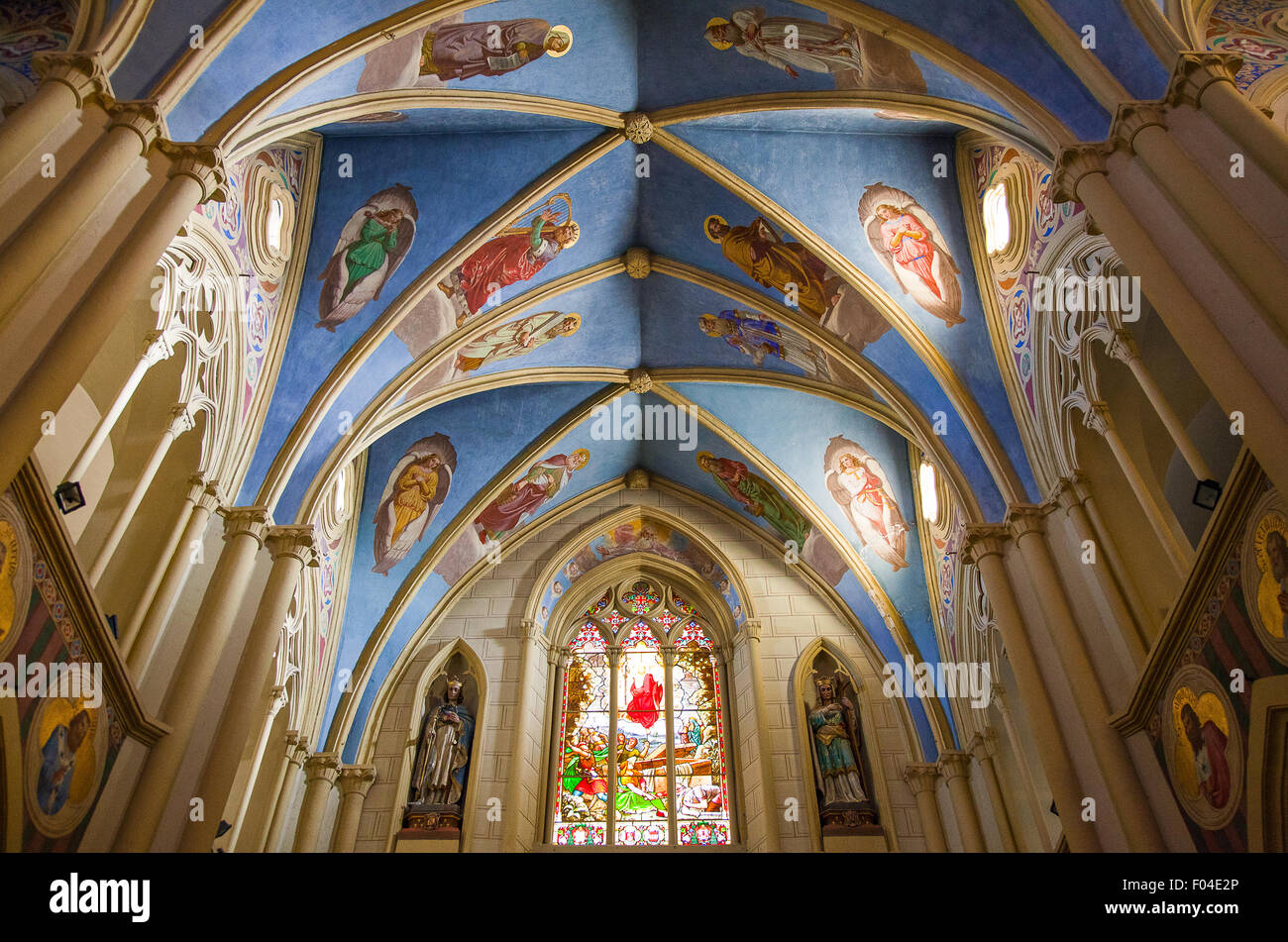 Israel, Jerusalem, the Cathedral of Latin Patriarchate - Stock Image