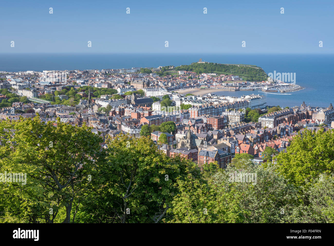 Scarborough Bay from Olivers Mount, North Yorkshire. - Stock Image