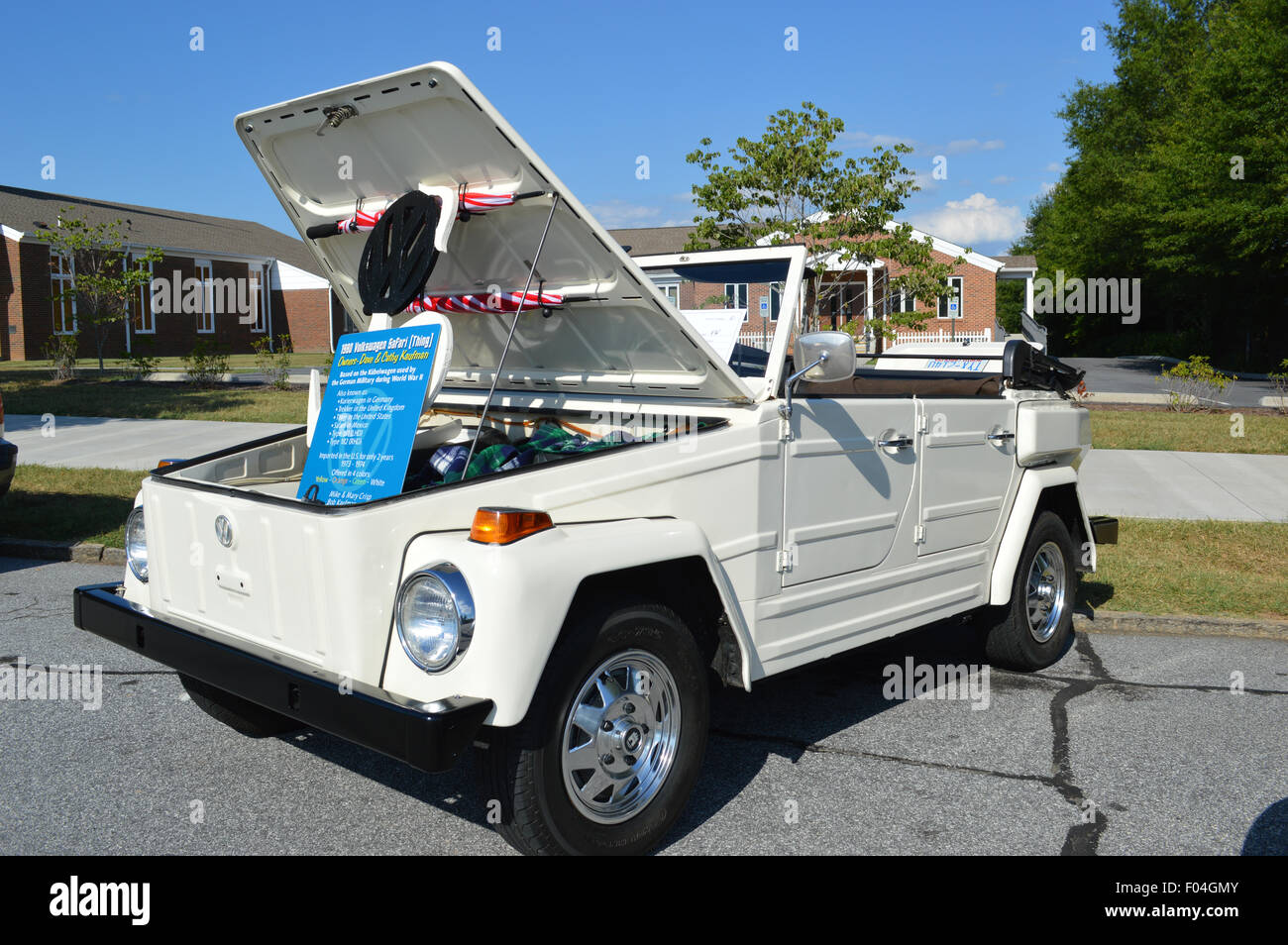 A vintage Volkswagen Thing Car. - Stock Image